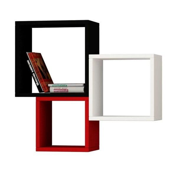 Zestaw 3 półek wiszących Kutugen White/Red/Black