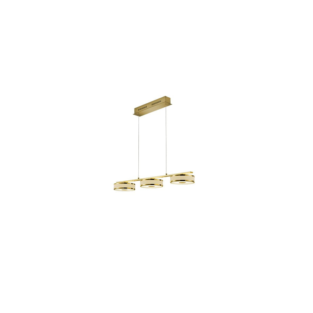 Lampa wisząca LED Trio Agento w kolorze złota, dł. 90 cm