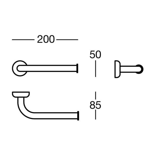 Uchwyt na papier toaletowy Polished Brass, 20x5x8,5 cm