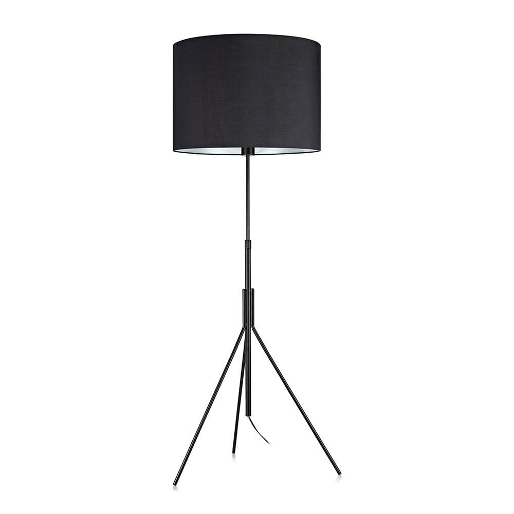 Czarna lampa stojąca Markslöjd Sling, ø 52cm