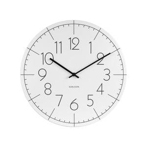 Biały zegar Present Time Blade Numbers