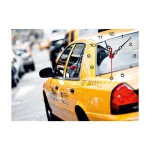 Obraz z zegarem Taxi, 60x60 cm
