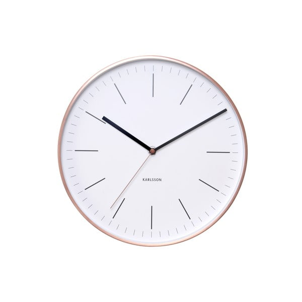 Biały zegar Present Time Minimal