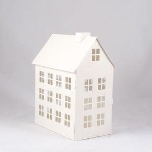 Blaszany świecznik Domek, 27 cm