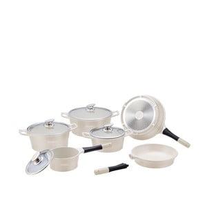10-częściowy ceramiczny komplet garnków i patelni Die Cast, biały