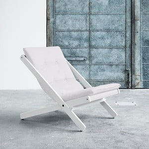 Fotel składany Karup Boogie White/Natural