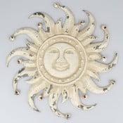 Białe metalowe słońce dekoracyjne Dakls Sun