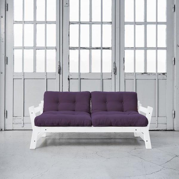 Sofa rozkładana Karup Step White/Purple