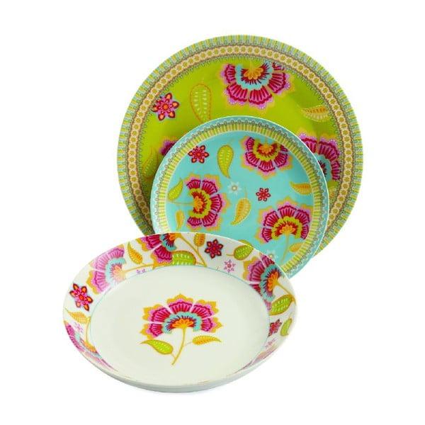 Zestaw talerzy porcelanowych Oriental, 18 sztuk