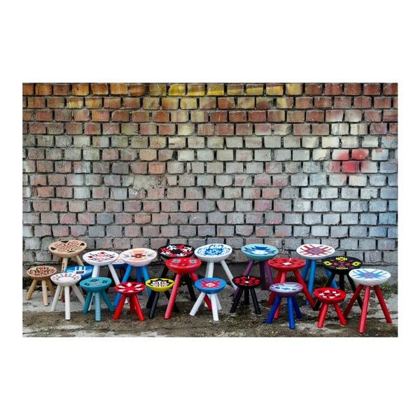 Ręcznie malowany taboret Iara, 28 cm