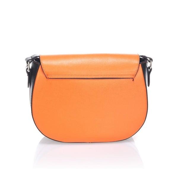 Skórzana torebka Krole Karina, pomarańczowa/czarna