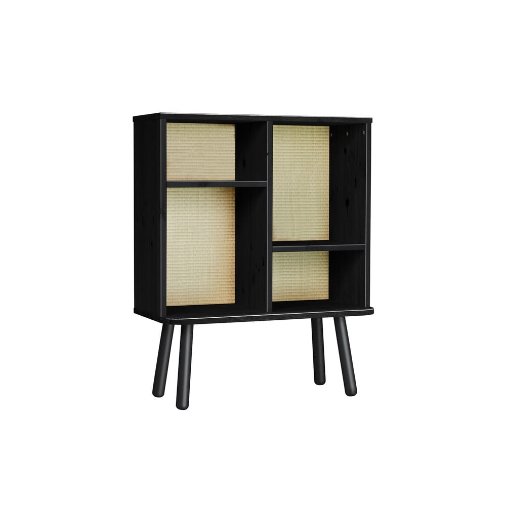 Komoda z drewna sosnowego w czarnym kolorze Karup Design Kyabi