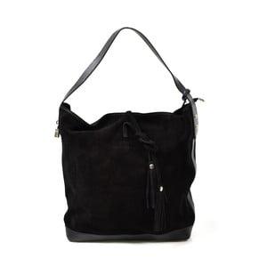 Skórzana torebka Stefie, czarna
