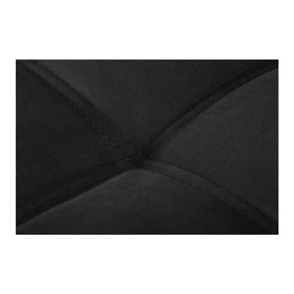Czarny narożnik lewostronny Crinoline