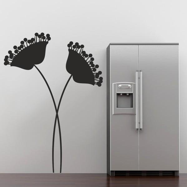 Naklejka ścienna Nowoczesne kwiaty, 90x60 cm