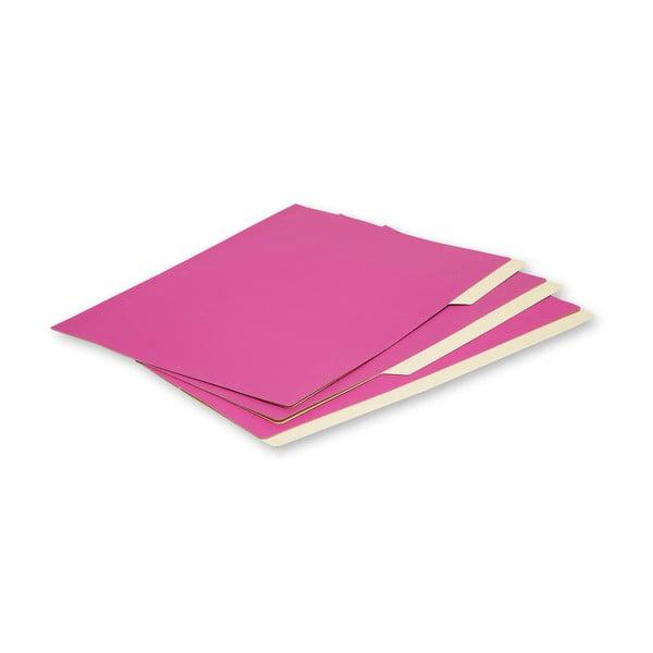 Zestaw 3 teczek Moleskine Folio Filer Hot Pink, A4