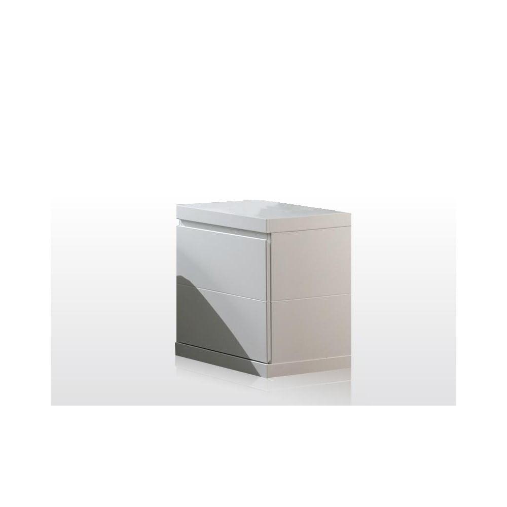 Biała szafka nocna Vipack Lara White, szer. 44 cm