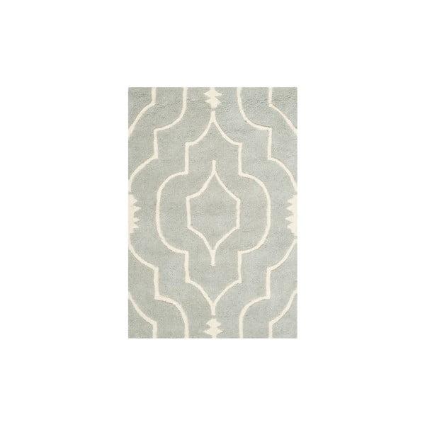 Wełniany dywan Morgan 91x152 cm, szary