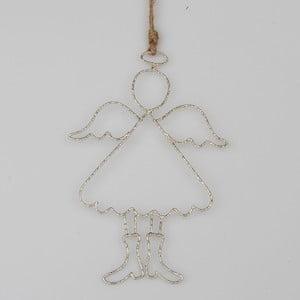 Druciana dekoracja wisząca w kształcie anioła Dakls Piet