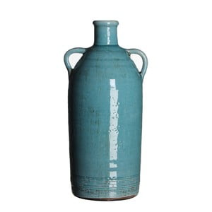 Wazon ceramiczny Sil Turquoise, 34x15 cm