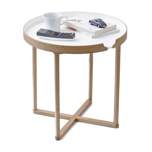Biały stolik Wireworks Damieh, 45x45 cm