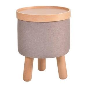 Szary stołek zdejmowanym blatem Garageeight Molde , ⌀35cm