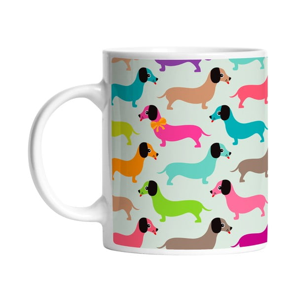 Ceramiczny kubek Dachshunds in Color, 330 ml