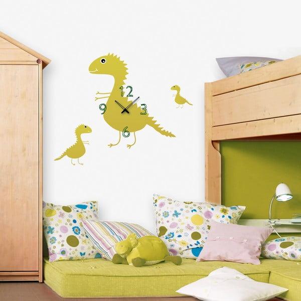 Samoprzylepny zegar Dinozaury