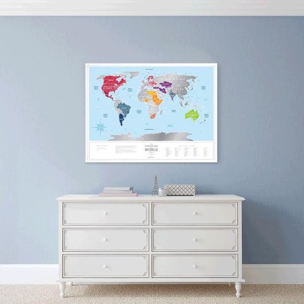 Mapa-zdrapka świata Scratch Map of the World Silver
