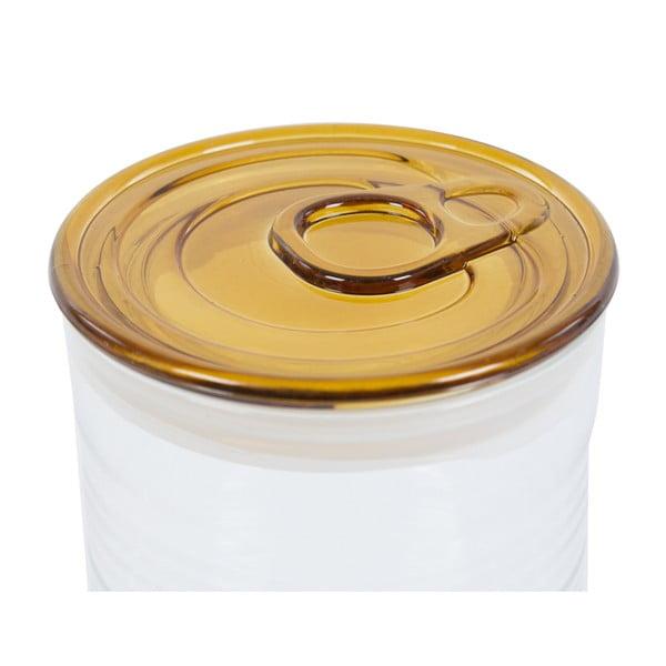 Pojemnik szklany z żółtym wieczkiem Kaleidos Can, 10,5x16cm