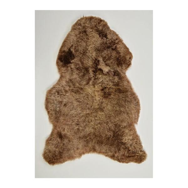 Brązowa skóra owcza z krótkim włosiem, 100x60 cm