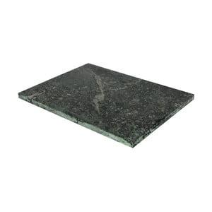 Zielona marmurowa deska do krojenia Strömshaga, 30x40 cm