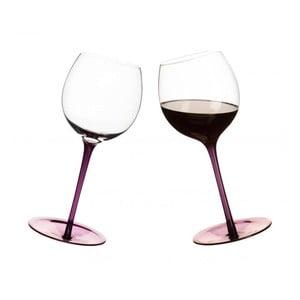 Fioletowe bujające się kieliszki do wina, 2 szt.