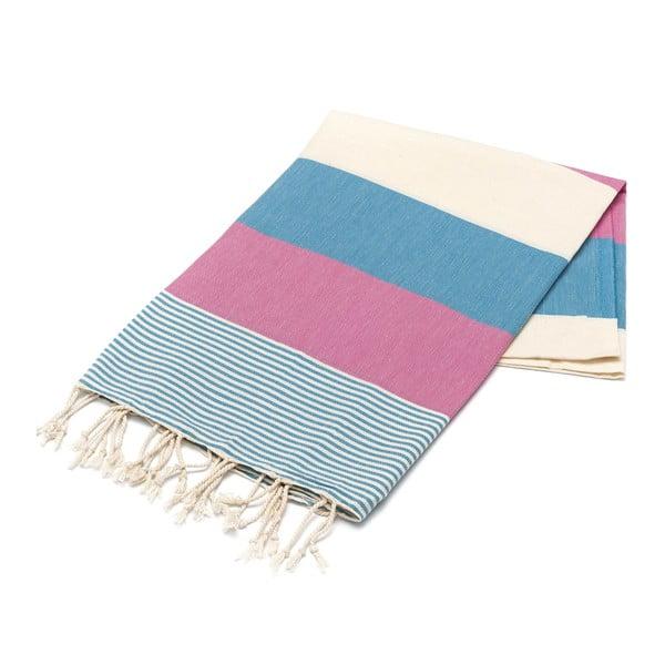 Ręcznik hammam American Stripes Blue, 100x180 cm