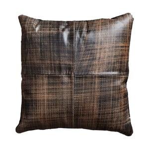 Brązowa poduszka skórzana Fuhrhome Cairo, 45x45cm