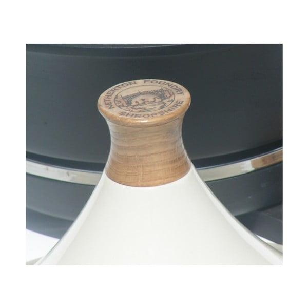 Żeliwny garnek elektryczny + tadżin, kremowy