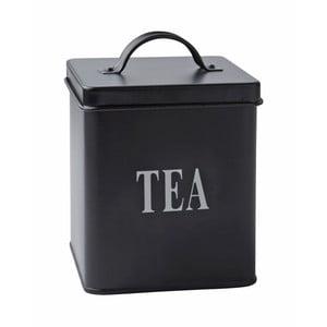 Blaszany pojemnik Tea Black, 14x11,5 cm