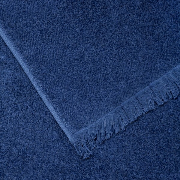 Komplet 2 niebieskich ręczników kąpielowych z bawełny Casa Di Bassi Bath, 100x160 cm