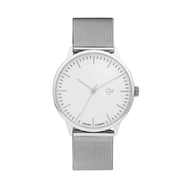 Zegarek ze srebrnym paskiem i białą tarczą Cheapo Nando