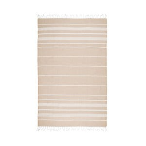 Beżowy ręcznik hammam Kate Louise Classic, 180x100 cm