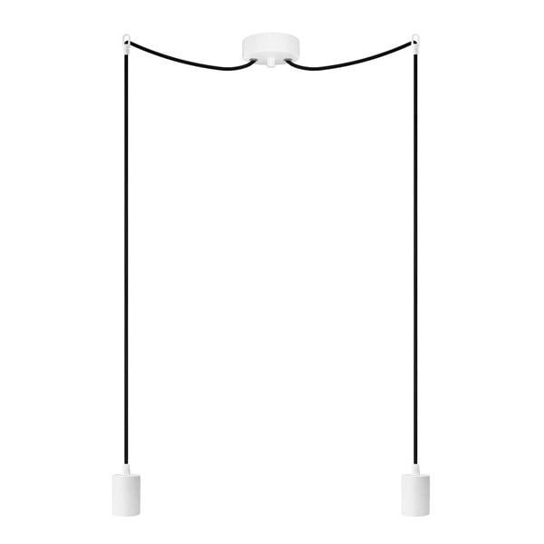 Lampa wisząca podwójna Cero, biały/czarny/biały