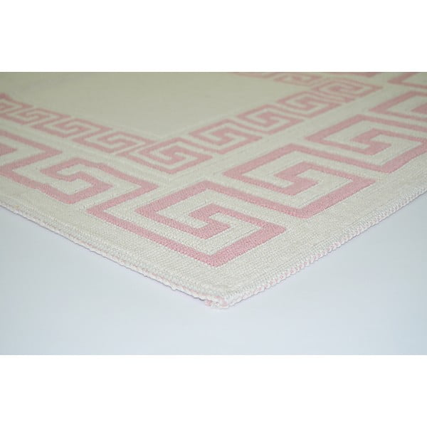 Wytrzymały dywan w kolorze pudrowym Vitaus Versace, 100x150 cm