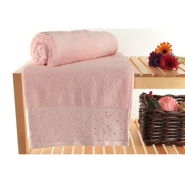 Zestaw 2 ręczników Tomur Rose, 90x150 cm