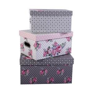Zestaw 3 pudełek Sweet Flowers