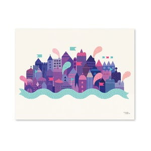 Plakat Michelle Carlslund Purple City, 30x40 cm