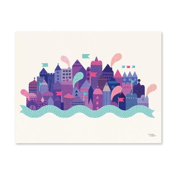 Plakat Michelle Carlslund Purple City, 30x40cm