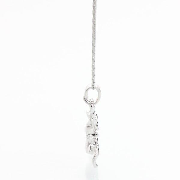Naszyjnik ze Swarovski Elements, srebrny pająk
