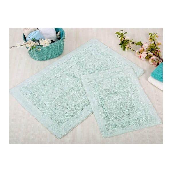 Zestaw 2 niebieskich dywaników łazienkowych Irya Home Superior, 60x100 cm i 40x60 cm