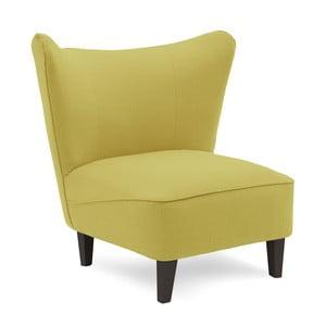 Zielony fotel z ciemnymi nogami Vivonita Sandy
