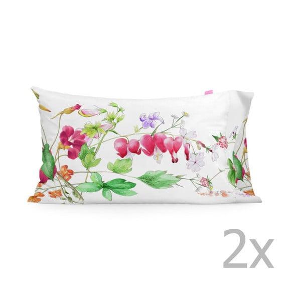 Zestaw 2 poszewek na poduszki Happy Friday The Florist, 50x80 cm